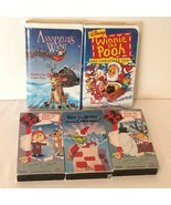 VHS Tapes Christmas Lot of 5 Cardboard and Clamshell Case Grinch Annabel... - $9.99