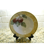 "222 Fifth Interiors Cheri Bloom Cortland 9 1/8"" Soup Bowl fruit Plum - $3.75"