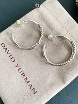 DAVID YURMAN Cable Classics Crossover Hoop Infinity Earrings Silver - $255.00