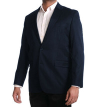 George Men's Classic Business Casual Duel Vent 2 Button Navy Blazer Jacket - 44R image 2