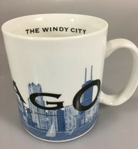 Starbucks Chicago Windy City Skyline Series One Coffee Mug Cup Barista 2002 - $27.93