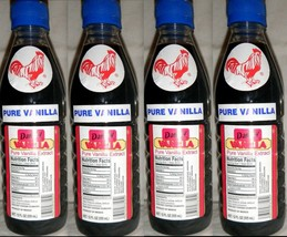 4 X Dark Danncy Pure Mexican Vanilla Extract 12oz Ea Plastic Bottles From Mexico - $24.00