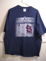 Majestic Xl Tshirt, St. Louis Cardinals National League Champions - $16.98