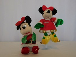 """Disney Gemmy Minnie Mouse 8"""" + Christmas Minnie mouse in Gold Shoes with... - $11.89"""