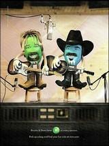 Brooks & Dunn 2009 M&M's candy advertisement original 8 x 11 cartoon ad ... - $3.95