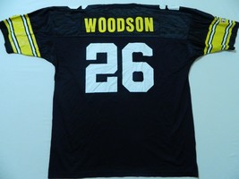 M68 New CHAMPION Pittsburgh Steelers Rod Woodson Vintage Black Jersey Me... - $39.55