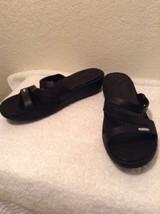 Crocs Women's Patricia Sandal Black #10386-060 Size 10 Womens Excellent - $22.97