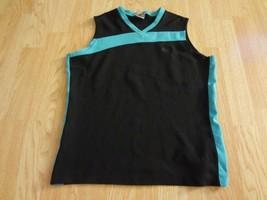 Women's Nike M(8/10) Exercise Tank Top Sleeveless Shirt Black & Blue - $9.49