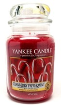 Yankee Candle Cranberry Peppermint with Pure Natural Extract Scented Can... - $25.99