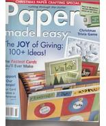 Paper Made Easy Magazine Winter 2005  - $5.99