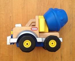 Vintage 2003  LITTLE TIKES Wooden Shape Mixer Truck Toy Complete - $32.66