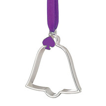 Kate Spade Lenox Tough Cookie Cutter Bell Ornament Silver Plated New - $19.99