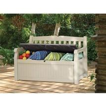 Patio Storage Cabinet Outdoor Garden Bench Cush... - $133.64