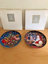 2 Christmas Avon Collector Plates with Boxes 1995 & 1996 22K Gold Trimmed - $19.79