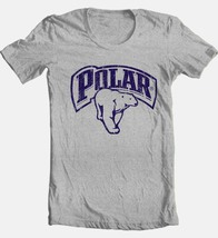 Polar Beer T-shirt cotton blend heather grey graphic printed tee image 2