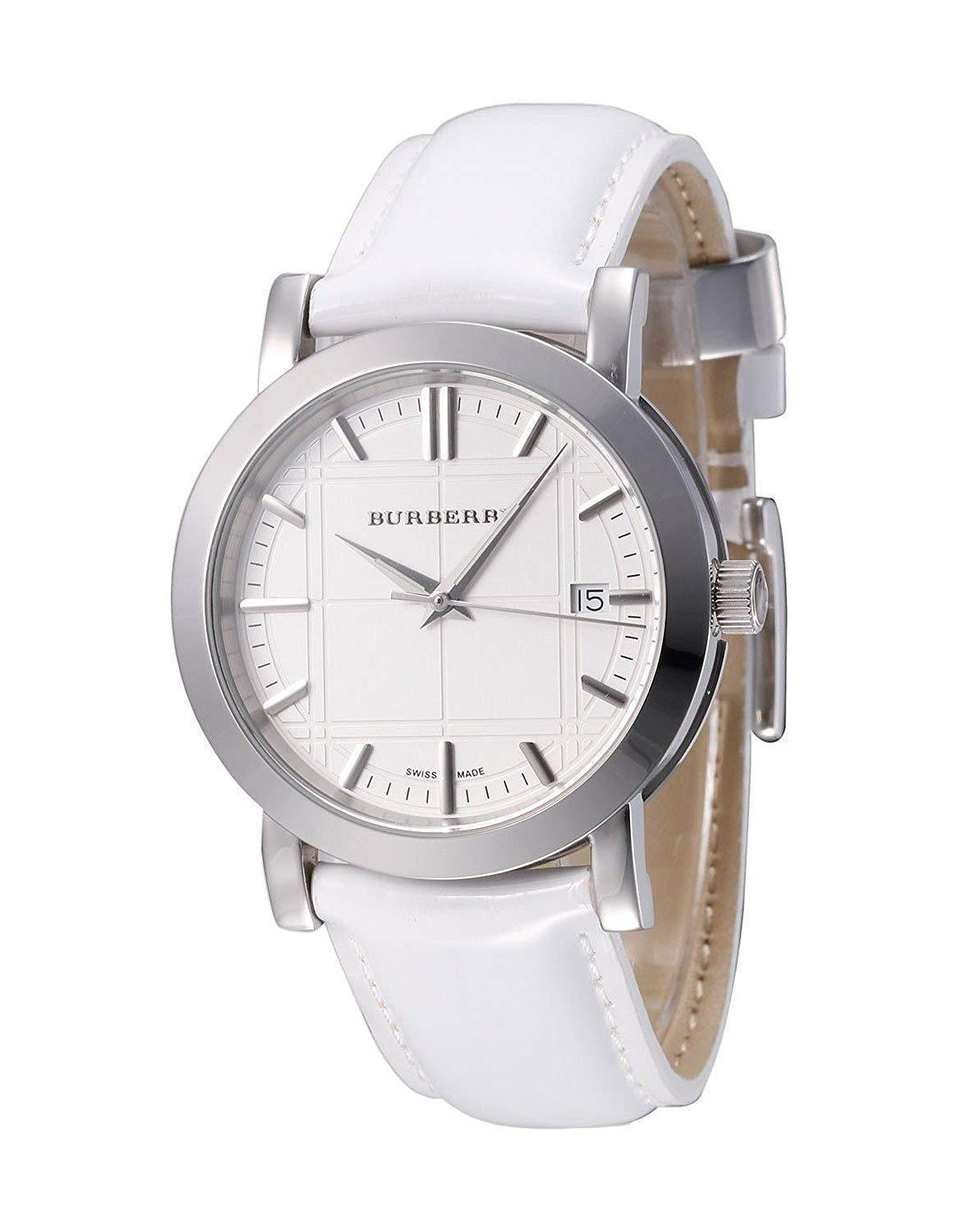 Primary image for Burberry BU1380 Silver Tone Swiss Watch 32mm