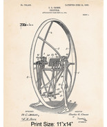 "Unicycle Art Poster 11""x14"" Patent Art Print Steampunk Design Steampunker Gifts - $12.38"
