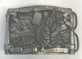 Vintage 1984 Bergamot Brass Bible Commemorative 10 Ten Commandments Belt... - $19.79