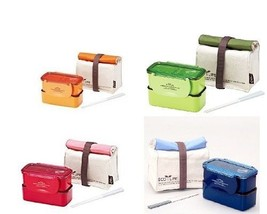 Lock & Lock BPA Free Mini Lunch Box Chopsticks And Cotton Bag Brand New - $12.59
