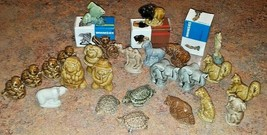 Red Rose Tea Wade Of England - Lot Of 25 Figures WHIMSIES Animals Bear Ambitions - $31.68