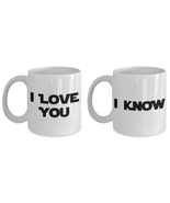 I Love You I Know Mug Set Funny His Her Gift Star Anniversary Wars Movie Quote - £21.34 GBP - £24.90 GBP