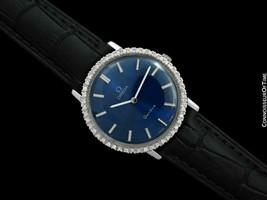 1975 OMEGA Geneve Vintage Mens SS Steel & Diamond Watch - Mint with Warranty - $1,563.10