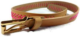Vince Camuto Belt Pink Chevron Lacing Size Medi... - $23.00