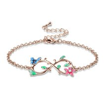 """Be with You Forever""Gold Plated Infinity Link Bracelet Angelady Girls P... - $49.95"