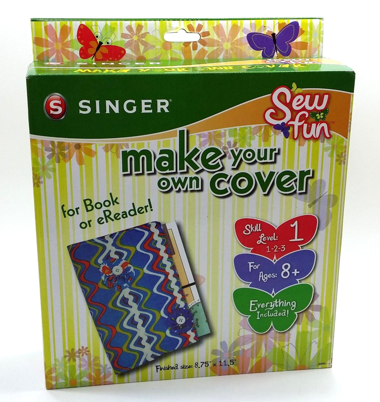 Make Your Own Book Cover Craft : Singer book cover ereader tablet craft kit sew fun make