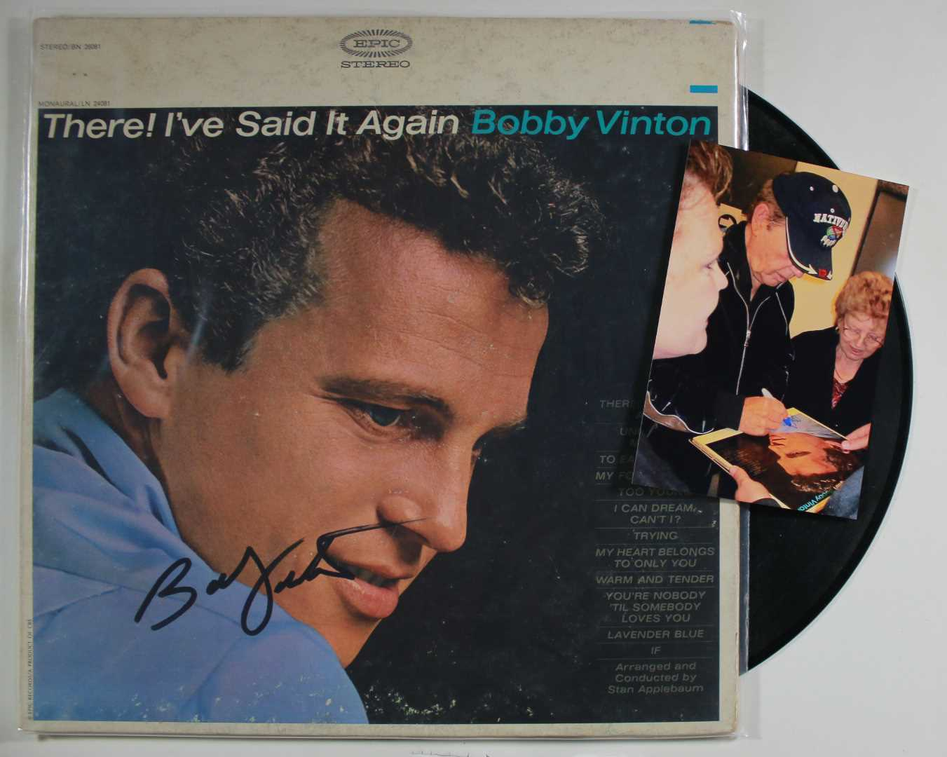 Primary image for Bobby Vinton Signed Autographed Record Album w/ Signing Photo