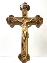 Large Hand Carved Wooden Crucifix with 4 Holy Essences Capsules - $199.99