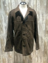 Hugo Boss Men 42R Brown Cashmere Wool Button Front Jacket CHESTER Topcoa... - $65.44