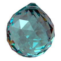 Swarovski 20mm Seafoam Green Crystal Faceted Ball Prism image 2