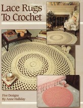 Lace Rugs To Crochet Picot Wheel Diamonds Anne Halliday Book - $13.99