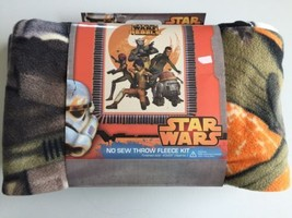Disney Star Wars Rebels - New And Sold OUT- NO-SEW Throw Fleece Kit 43 X 55 - $24.89