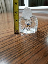 "FENTON Crystal Glass ANGEL Figurine 3 1/2"" Tall Marked, BLUE BIRTHSTONE - $16.70"