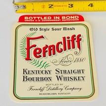 Whiskey label paper ephemera advertising vtg Ferncliff Meadowlawn Kentuc... - $14.46