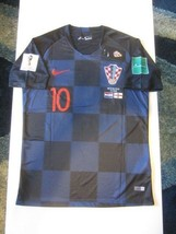Nike Luka Modric Croatia Hrvatska 2018 World Cup Away Jersey Patches Game Detail - $99.99