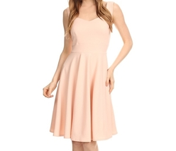 Fit and Flare Dress, Pink Fit and Flare Dress, Sweetheart Neckline, Lt Pink