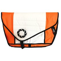 Portal Aperture Laboratories 5-Pocket Messenger Bag Orange White Officia... - $159.99