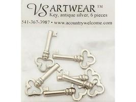 VS Artwear Antique Silver Key Charms, Set of 5
