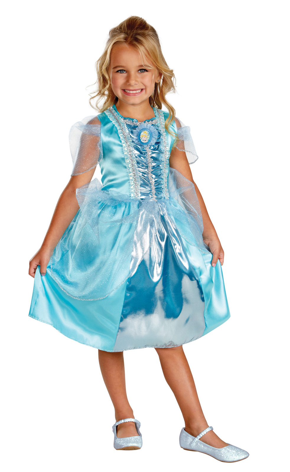 "Toddler Girl 3T-4T Disney""Cinderella"" Sparkle Class Gown Halloween Costume"