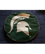 Michigan State University Tire Cover w/ Spartans Logo on Green Vinyl - $29.39