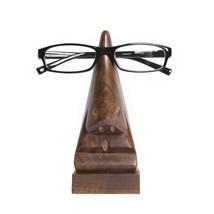 Fair Trade Wood Nose Eyeglass Holder Handcrafted Sculpture Artisanal Gift - $16.00