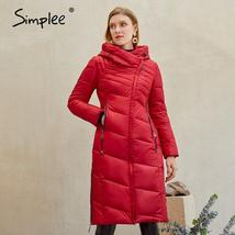 Women's  New Style Warm Solid Quilted Windproof Parka Coat image 3