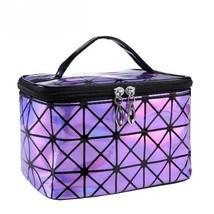 Women Cosmetic Bag Makeup Travel Case Functional Handbag Material Nylon ... - $84,56 MXN