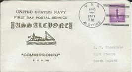 Alcyone (AK-24) First Day of Postal Service Aug 28 1941 Hutnick Cachet - $3.47
