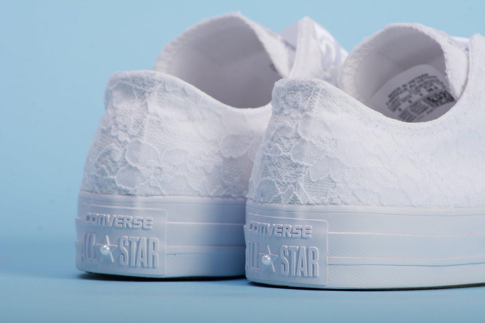 0e2f49dd0de7 White Wedding Converse for bride
