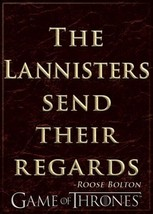Game of Thrones The Lannisters Send Their Regards Quote Refrigerator Mag... - $3.99