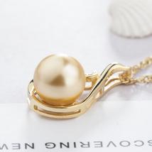 Fashion Women Sterling Silver Zircon Swan Pearl Pendant image 4